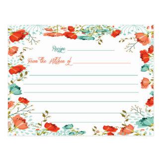 Blom- möhippareceptkort vykort