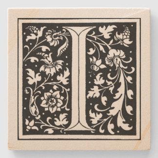 Blom- Monogram` för vintage jag', Stenunderlägg