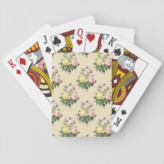 Blom- mönster för vintageroblomma som leker kort kortlek