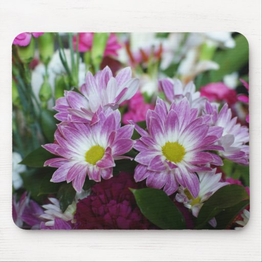 Blom- Mouspad lycklig bröllopsdagbukett Musmatta
