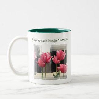 Blom- mugg för härlig mor