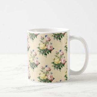 Blom- mugg för mönster för vintageroblomma