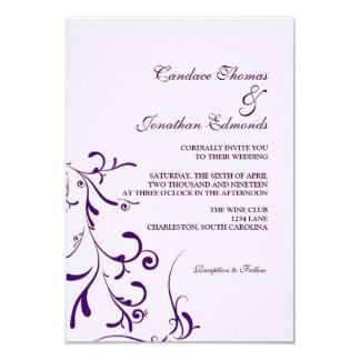 Blom- nåd III  lavp för bröllopinbjudan   8,9 X 12,7 Cm Inbjudningskort