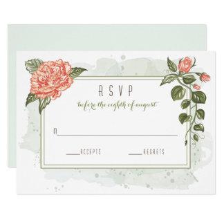 Blom- omfamningbröllop OSAkort 8,9 X 12,7 Cm Inbjudningskort