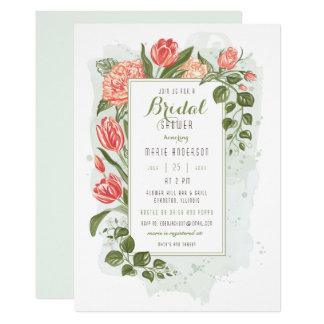 Blom- omfamninginbjudningskort för möhippan 12,7 x 17,8 cm inbjudningskort