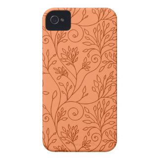 Blom- orange blackberry boldfodral för vintage Case-Mate iPhone 4 skydd