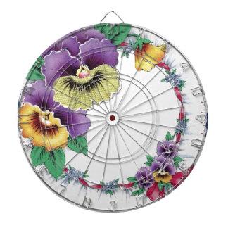 Blom- PansyDartboard för färgrik vintage Piltavla