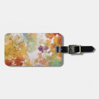 Blom- pastell skisserar med blyerts bagagebricka