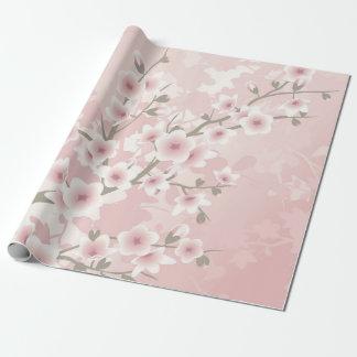 Blom- pastellfärgade körsbärblommar för vintage presentpapper