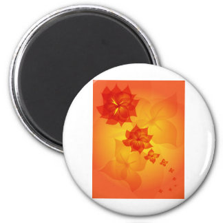 blom- prydnadorangesol magnet