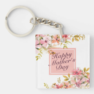 Blom- ram Keychain för elegant lycklig mors dag