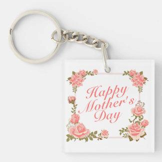 Blom- ram Keychain för enkel lycklig mors dag