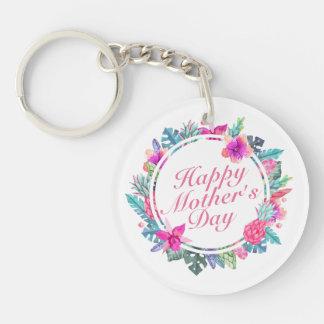 Blom- ram Keychain för tropisk lycklig mors dag