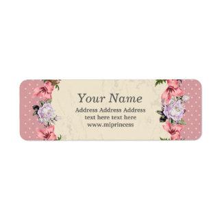 blom- returadressklistermärkear returadress etikett