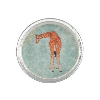 Blom- ring för bärnstensfärgad giraff