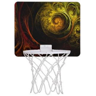 Blom- röd abstrakt konst för soluppgång Mini-Basketkorg