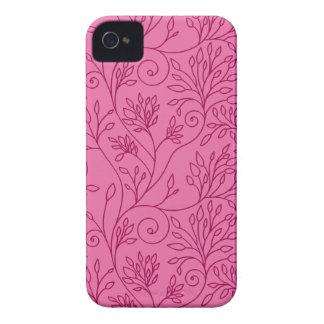 Blom- rosa blackberry boldfodral för vintage iPhone 4 Case-Mate case