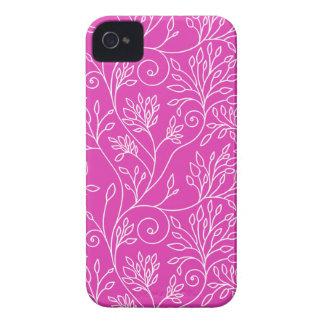 Blom- rosa blackberry boldfodral för vintage iPhone 4 fodraler