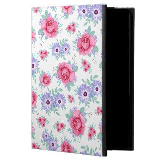 Blom- rosa purpurfärgat vitmönster för eleganta ro powis iPad air 2 skal