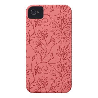 Blom- rött blackberry boldfodral för vintage iPhone 4 fodraler