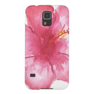Blom- Samsung för hibiskus galax S5 Galaxy S5 Fodral