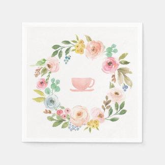 Blom- servetter för möhippaTeaparty