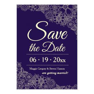 Blom- spara datum meddelande 12,7 x 17,8 cm inbjudningskort
