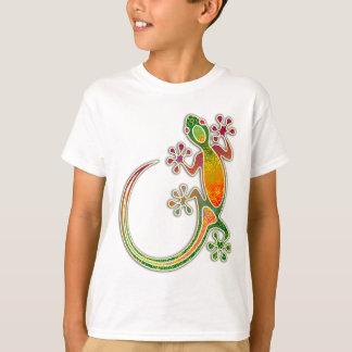 Blom- stam- konst för Gecko T-shirt