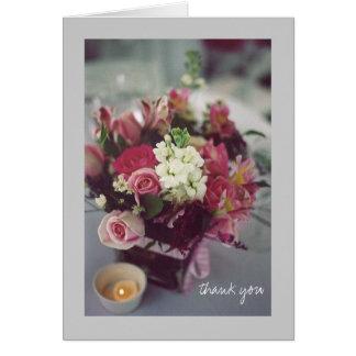 Blom- tack hälsningskort