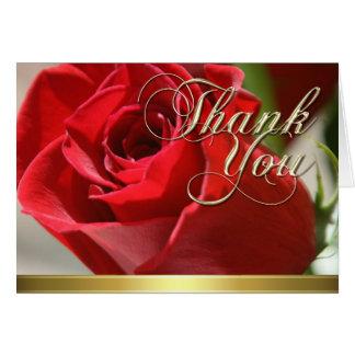 Blom- tackkort för röd ros OBS kort