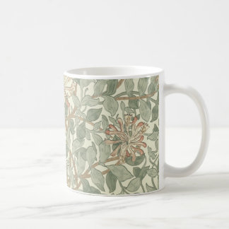 Blom- tapet William Morris för kaprifol Kaffemugg