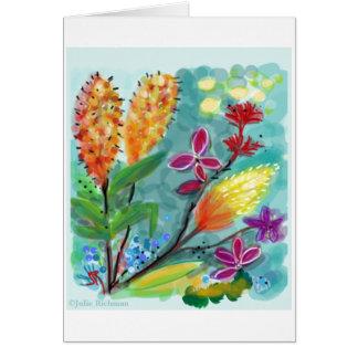 Blom- teckning för skördar OBS kort