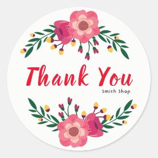 Blom- thanksgiving för affär för runt klistermärke