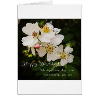 Blom- Themed födelsedagkort Hälsningskort