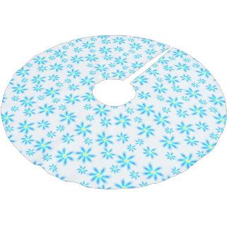 Blom- trädkjol för roliga blått julgransmatta borstad polyester