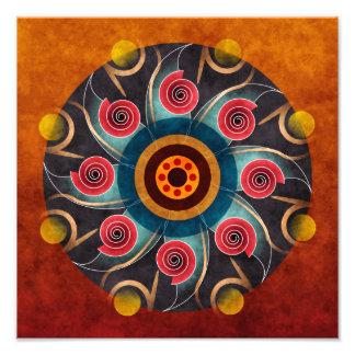 Blom- tryck för foto för konst för färgabstraktvek