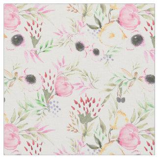 Blom- tyg för vattenfärg med pioner och anemoner