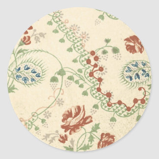 Blom- tyg för vintage (141) klistermärke