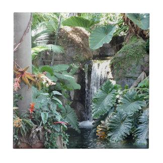 Blom- vattenfall kakelplatta