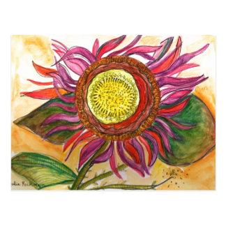 Blom- vattenfärg- och bläckteckningvykort vykort