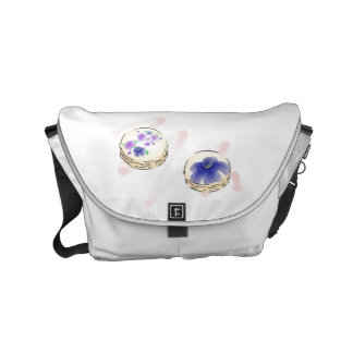 Blom- vattenfärgMacarons messenger bag