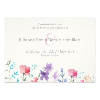 Blom- vattenfärgspara för vildblommar datera 12,7 x 17,8 cm inbjudningskort