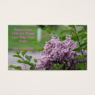 Blom- visitkort