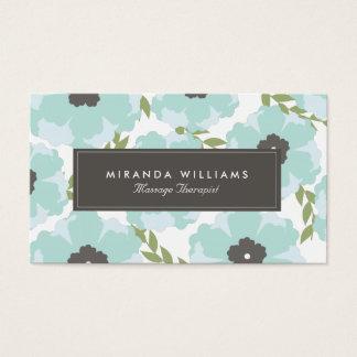 Blom- visitkortar för eleganta blått - Groupon