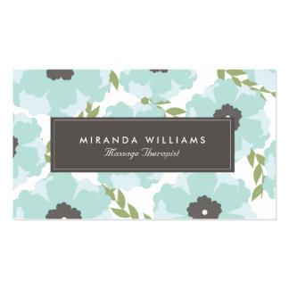 Blom- visitkortar för eleganta blått - Groupon Set Av Standard Visitkort