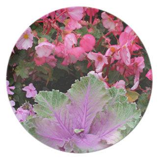 Blom- visning tallrik