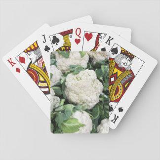 Blomkål som leker kort spel kort