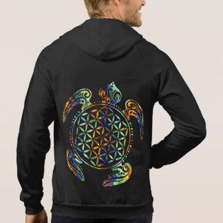 Blomma av liv-/Blume des Lebens - sköldpaddan Sweatshirt Med Luva