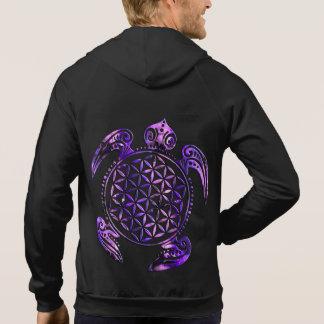 Blomma av liv-/Blume des Lebens - sköldpaddaviolet Sweatshirt Med Luva