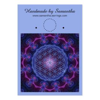 Blomma av liv - Fractalmandalaen kvadrerar II Set Av Breda Visitkort